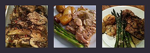 Italian style roast chicken