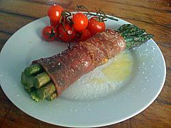 Aspagagus with Parma Han