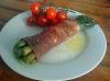 Aparagus wrapped in Parma Ham
